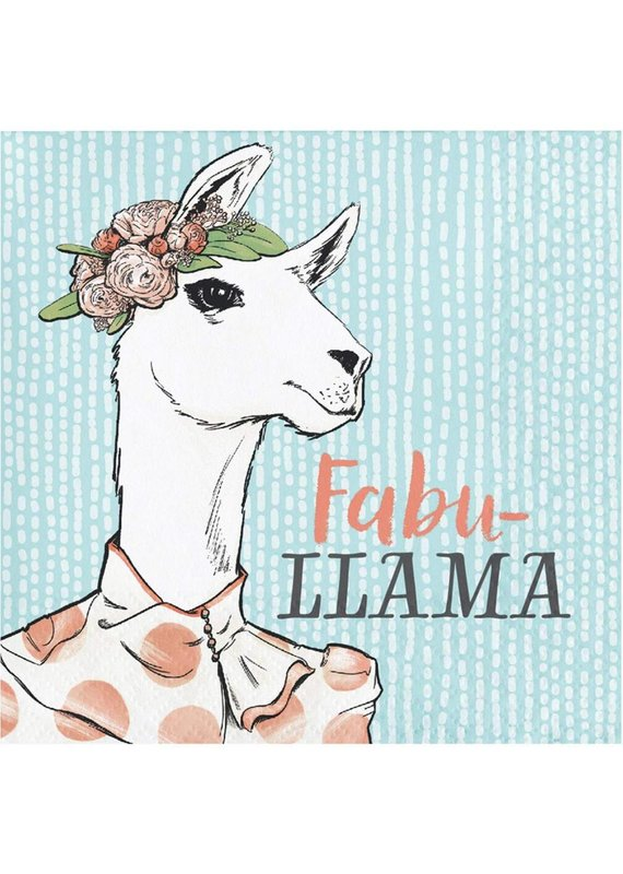 ***Dapper Fabu-Llama Beverage Napkin