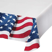 Freedoms Flag Plastic Tablecover