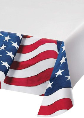 ***Freedoms Flag Plastic Tablecover