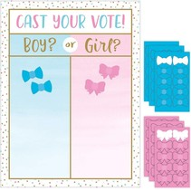 ***Gender Reveal Balloons Cast Your Vote Game