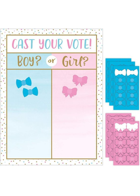 ****Gender Reveal Balloons Cast Your Vote Game
