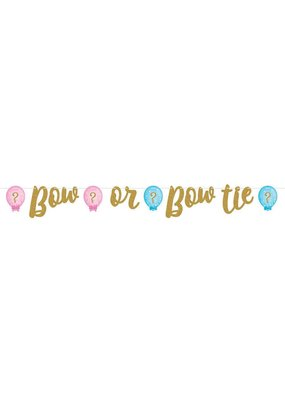 ***Gender Reveal Balloons Ribbon Banner