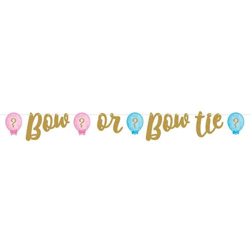Gender Reveal Ribbon Banner