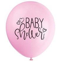 Pink Baby Shower Latex Balloons