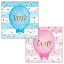 ***Gender Reveal Balloons Beverage Napkins