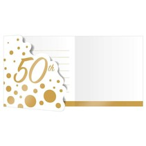 Glitz 50th Anniversary Invitations