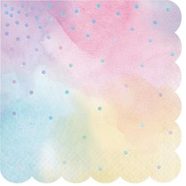 Iridescent Scalloped Lunch Napkins