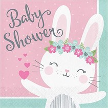 Bunny Baby Shower Lunch Napkins
