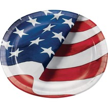 Freedoms Flag Oval Platter 8ct