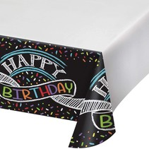 ***Chalk Birthday Plastic Tablecover