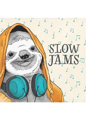 ***Slow Jams Sloth Beverage Napkins