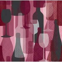 ***Wine Party Bottles Beverage Napkins