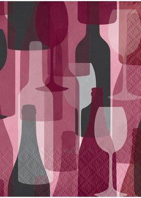 ***Wine Party Bottles Beverage Napkins