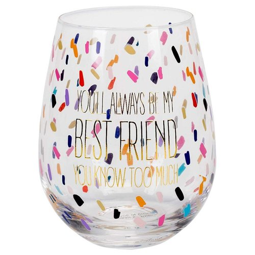 Mary Square Always Be My Best Friend Stemless Wine Glass