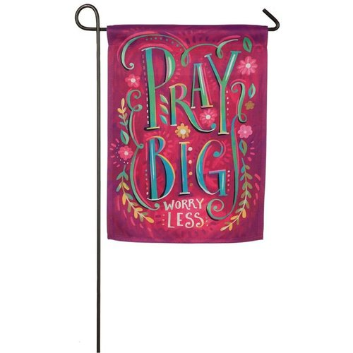 Pray Big Garden Suede Flag