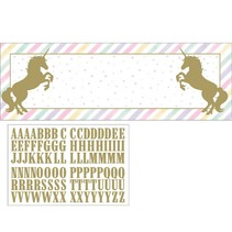 Unicorn Sparkle Giant Party Banner