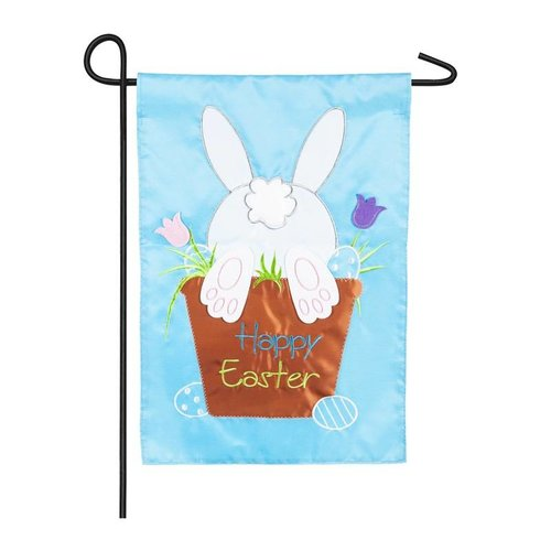 Easter Bunny Garden Applique Flag