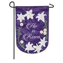 ***Easter Lily Garden Applique Flag