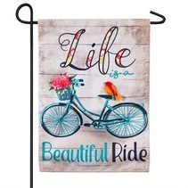 ***Life is a Beautiful Ride Garden Linen Flag