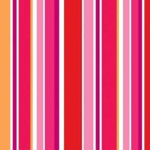 **Hearts & Stripes Bev. Napkin 18ct