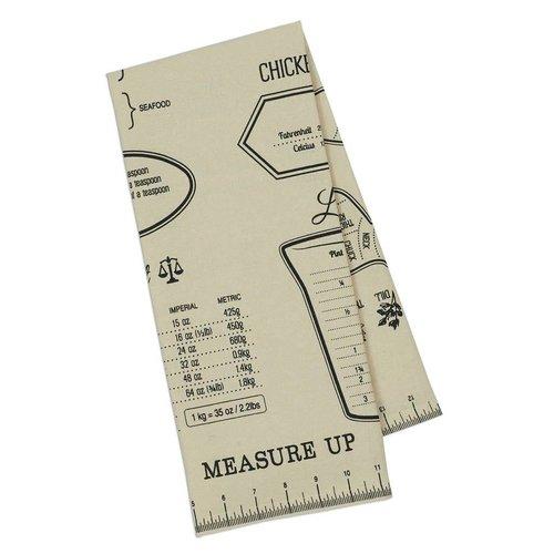 Design Imports Measure Up Printed Dishtowel