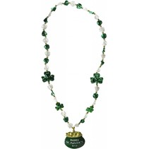 ***Shamrock Beads w/Pot-O-Gold Medallion