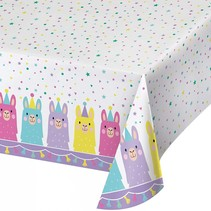 ***Llama Party Plastic Tablecover