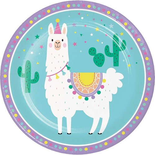 Llama Party 9in Plate