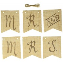 Mr. and Mrs. Burlap Banner