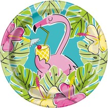 ***Summer Pineapple & Flamingo 7in Plate