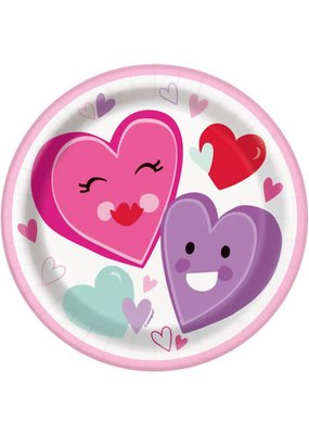 "***Smiling Hearts 7"" Dessert Plates 8ct"
