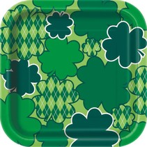 ***Argyle Clover 7in Plate