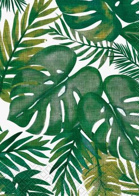 ***Palm Tropical Luau Lunch Napkins 16ct
