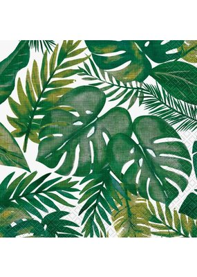 ***Palm Tropical Luau Lunch Napkins 16ct