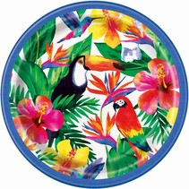 ***Palm Tropical Luau 9in Plate