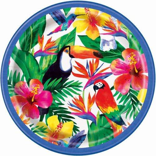 Palm Tropical Luau 9in Plate