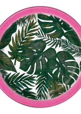 "***Palm Tropical Luau 7"" Dessert Plates 8ct"