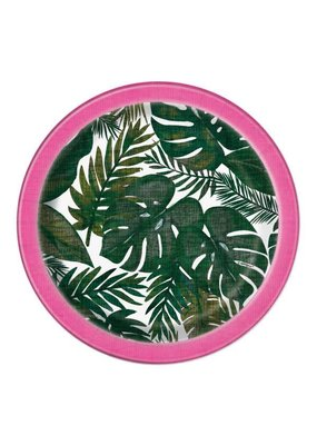 "***Palm Tropical Luau 7"" Dessert Plates 8ct"