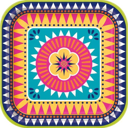 Boho Fiesta 9in Square Plate
