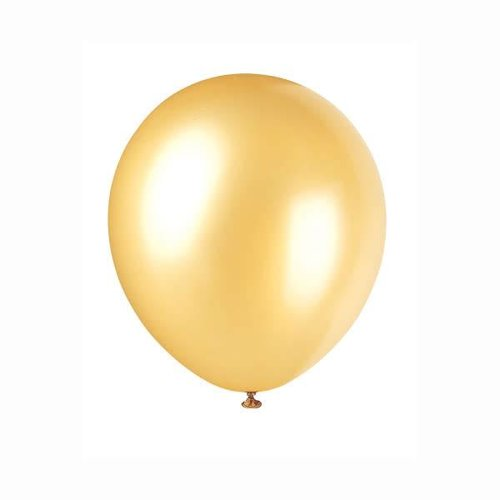 *Gold Pearlized 72ct Latex Balloons