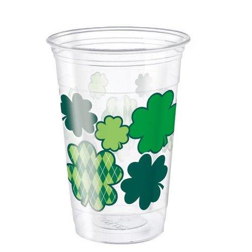 St. Patrick's Day Argyle Plastic 16oz Cups
