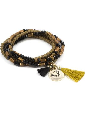 """Laura Jenelle ***MORSE CODE STRETCH BRACELET – """"CHASE YOUR DREAMS, IN HIGH HEELS OF COURSE"""
