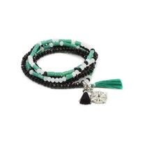 """MORSE CODE STRETCH BRACELET – """"I AM EXACTLY WHERE I AM SUPPOSED TO BE"""""""