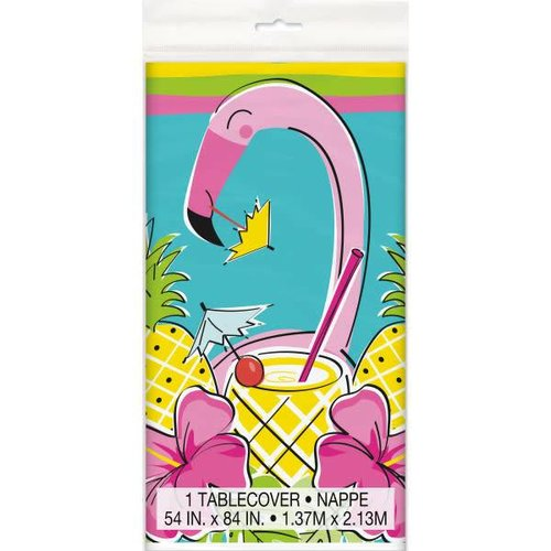 Summer Pineapple & Flamingo Plastic Tablecover