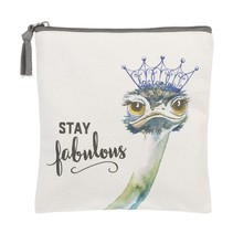 Stay Fabulous Ostrich Large Pouch