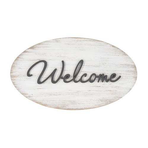 Welcome Raised Wall Plaque