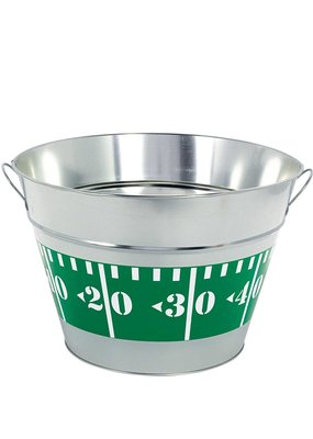 ***Football Party Metal Tubs