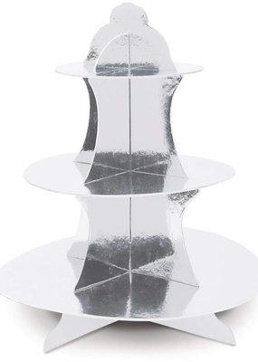 ***Silver Metallic Cupcake Stand