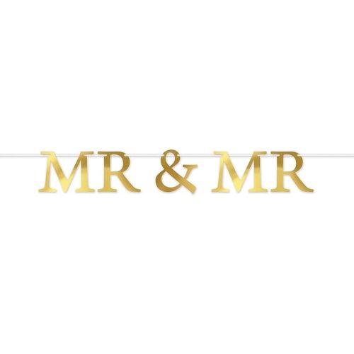 Mr & Mr Foil Streamer Banner