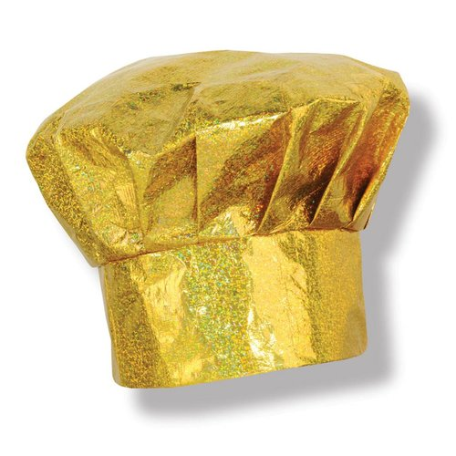 Gold Sparkle Chef Hat